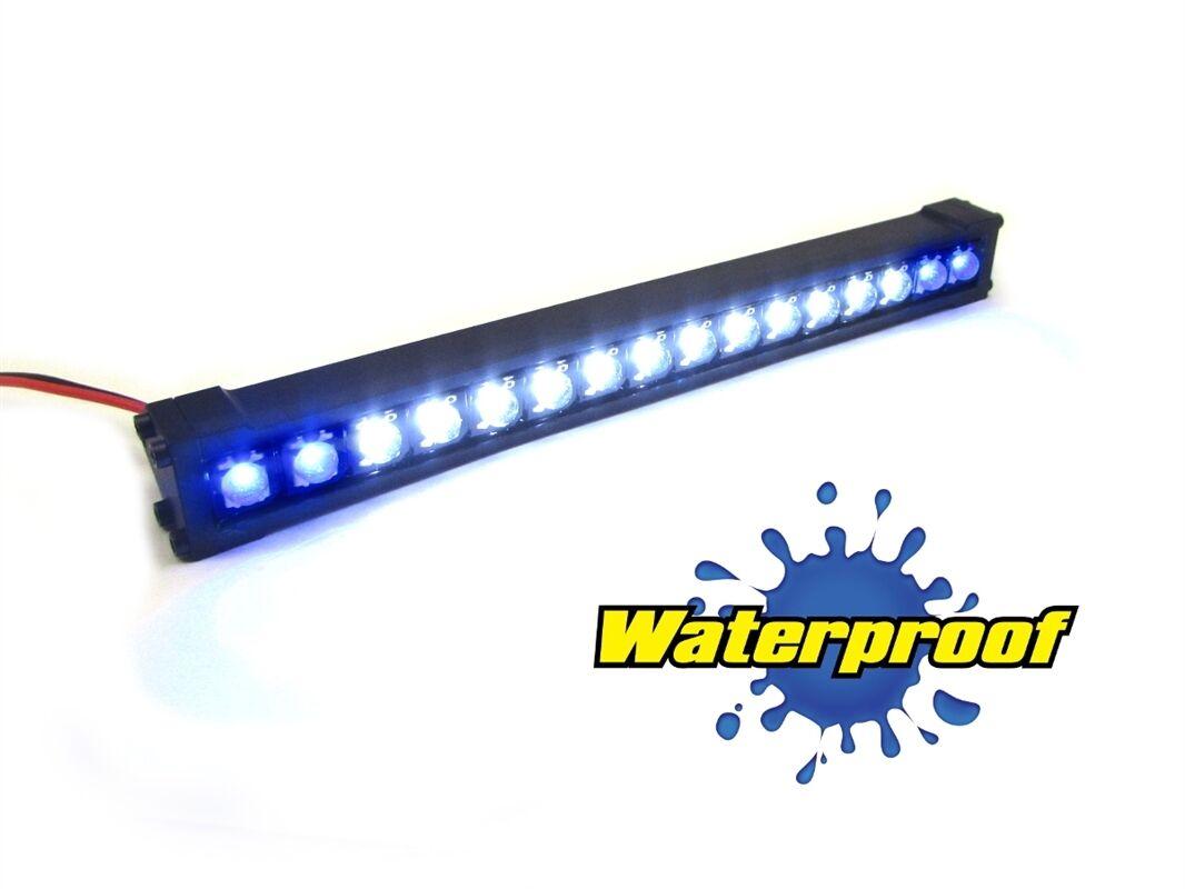 Gear Head RC 1 10 Scale Trek Torch 5  LED Light Bar - White and bluee GEA1352