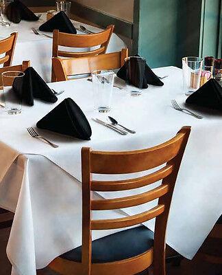 "Milliken Signature Plus Polyester White Rectangular Tablecloth 90"" x 132"""