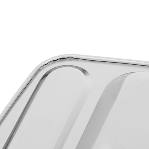 Rechteckige Geteilte Platte Edelstahl Mess Tray Food Plate für Männer
