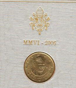 1 pièce de 50 cent OFFICIEL DU COFFRET VATICAN 2006 BENOIT XVI UNC-Neuve
