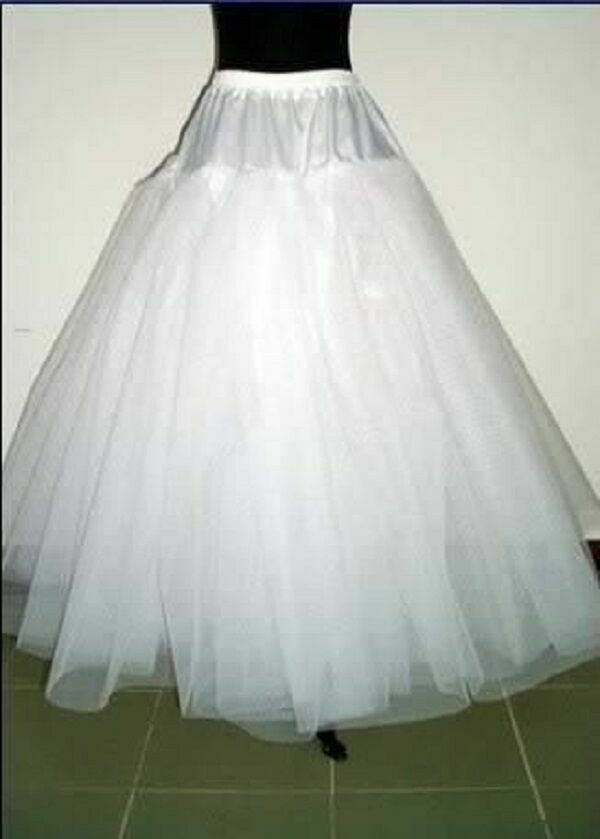 White Multilayer Wedding Crinoline Petticoat Underskirt