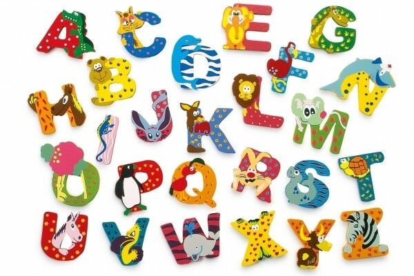 Playshoes Kinder Holz-Buchstaben Namen-Set JONAS - sortiert