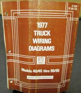 1977 GMC Chevy Electrical Wiring Diagram Dealer Manual ...