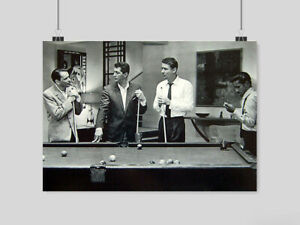 AMERICAN POOL POSTER BILLIARDS PRINT CLASSIC VINTAGE  IMAGE WALL ART A3 A4 SIZE