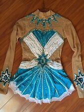Beautiful leotard for rhythmic gymnastic