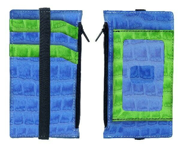Retro 51 Travel Bandit Blue Genuine Leather Wallet
