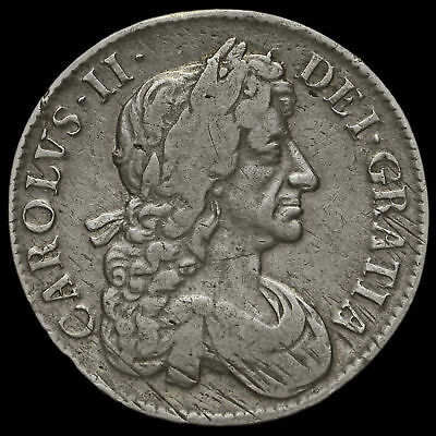 1682 Charles II Early Milled Silver Tricesimo Qvarto Crown