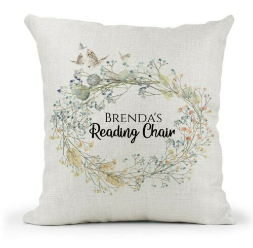 Nan//Gran//Mum Personalised Cushion Reserved for. Any Name Reading Chair Gift.