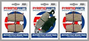 Front & Rear Brake Pads (3 Pairs) for Kawasaki VN 2000 2004