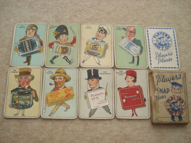 RARE C1930S VINTAGE PLAYER'S NAVY CUT SNAP CARDS IN THEIR ORIGINAL PACKET