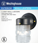 ea Westinghouse 66885 Black Single Lamp Jelly Jar Wall Light Fixtures 12