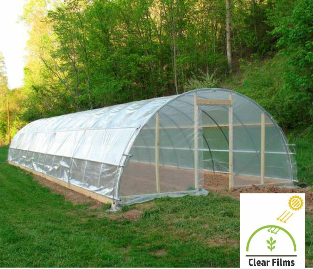 A/&A Green Store Greenhouse Plastic 4 Year 6 mil Film Clear Polyethylene Cover UV Resistant 5 ft Wide x 25 ft Long