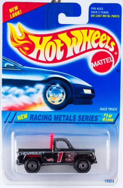 Hot Wheels No  336 Racing Metals Series #1 Race Truck Silver Chrome 1995