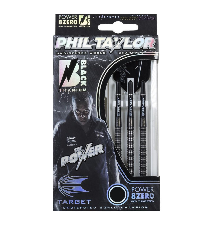 Target Dart - - - Phil Taylor 8Zero schwarz Titanium 19g Soft-Dart Dartpfeile NEU&OVP b490bf