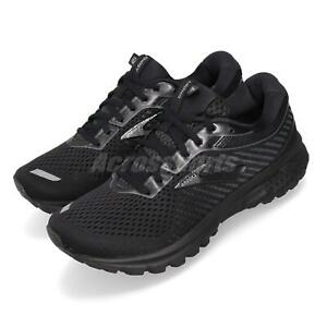 Brooks-Ghost-12-Wide-Black-Grey-Women-Running-Training-Shoes-Sneakers-120305-1D