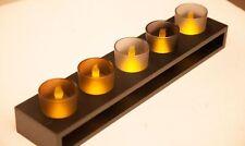 6 pezzi Design candela a LED Lumino Set con Wenge Base, Ornamento Decorativo