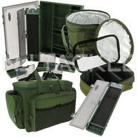 Ngt Fishing Green Luggage Set Carryall Rig Wallet Lead Bag Tackle Box Bait