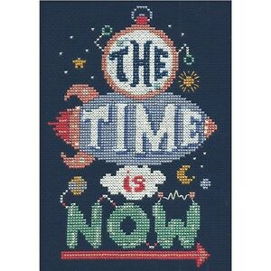 Tobin Time Is Now Mini Counted Cross Stitch Kit - 265265