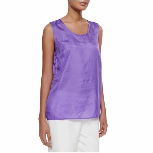 Caroline Rose Tissue Silk Tank Sleeveless Blouse L