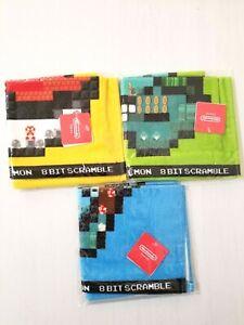 Nintendo Tokyo Pokemon Super Mario Bros. 8-Bit Scramble Hand Towel x 3 Japan