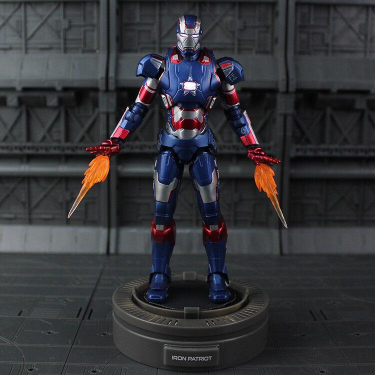 1:12 Diecast Play Imaginative Super Alloy Iron Man 3 Steel Patriot Figure Model
