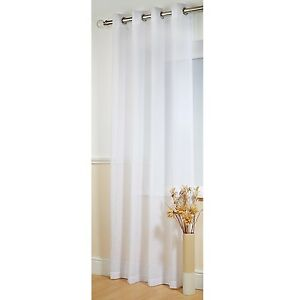 PLAIN-WHITE-LINEN-LOOK-TEXTURED-THICK-VOILE-BOSTON-EYELET-NET-CURTAIN-PANEL