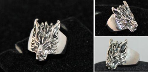Ring Herren Wolf Silber Gold NEU