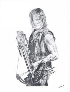 Print-Norman-Reedus-as-Daryl-Nixon-the-walking-dead-JBL-drawings-LE