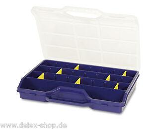 Sortimentskast<wbr/>en Sortimentsbox mit bis zu 25 Fächer 312x238x51mm mit Trennstegen