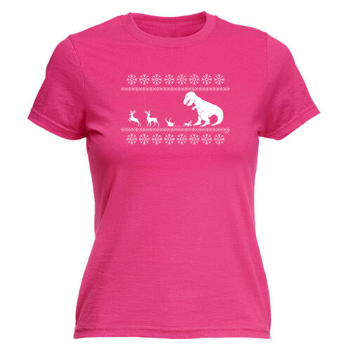 Christmas Lunch For Trex Jumper Funny Novelty Tops T-Shirt Womens tee TShirt