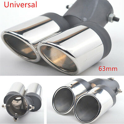 Universal SS304 Auto Car Round Exhaust Pipe Tip Tail Muffler Covers New Styling