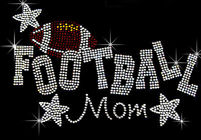 "Iron On Rhinestone Transfer /"" Soccer Ball /"" 5/"" X 5/"" Hotfix Bling Mom"