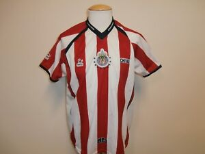 brand new ada7a c2872 Details about CHIVAS DE GUADALAJARA RED & WHITE SOCCER JERSEY REPLICA BY  ALEXIS SOCCER MEN XL