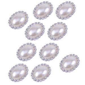 50pcs Rhinestone Crystal Faux Pearl Shank Buttons DIY Sewing Embellishment Craft