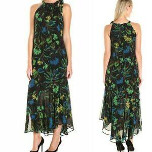 462f99ed7dd3 Taylor Maxi Dress Size 2 Green Multi Floral Tropical Print ...