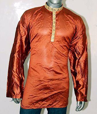 Lakkar Haveli Indian 100/% Cotton Solid Print Man/'s Shirt Loose fit Plan Teal Color Plus Size