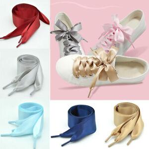 Shoelaces Thick Flat Wide Shoe Laces Glitter Sport Dance Kids Fancy Dress Shoela