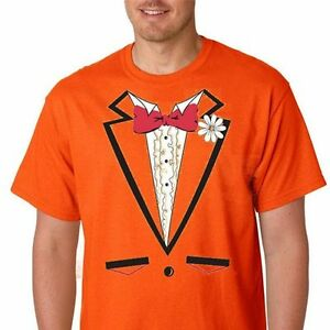 great prices best sneakers 60% clearance Details about ORANGE RUFFLED TUXEDO t-shirt costume dumb and dumber vintage  tux funny gift Tee