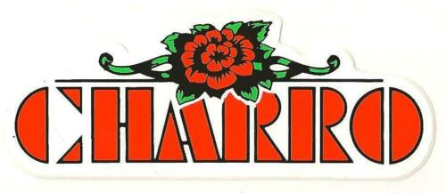 EL CHARRO Adesivo con scritta e rosa PANINARO Replica VINTAGE Anni 80 4 x 11