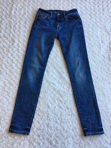 Mens American Eagle Next Level Flex Skinny Jeans Size 30x34 (Actual 30x32) Denim