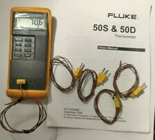 Fluke 50d Kj Digital Thermometer Dual Input K Or J Type Thermocouple