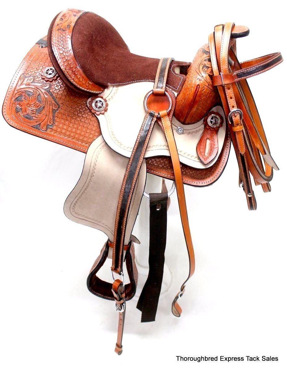 D.A. marca 10  Borgoña Fileteado PONY Silla Set Brida pecho Collar Tachuela del caballo