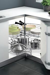 Brilliant Details About Pie Cut Chrome Lazy Susan Kitchen Cabinet Organizing Corner Revolving 270 Interior Design Ideas Tzicisoteloinfo