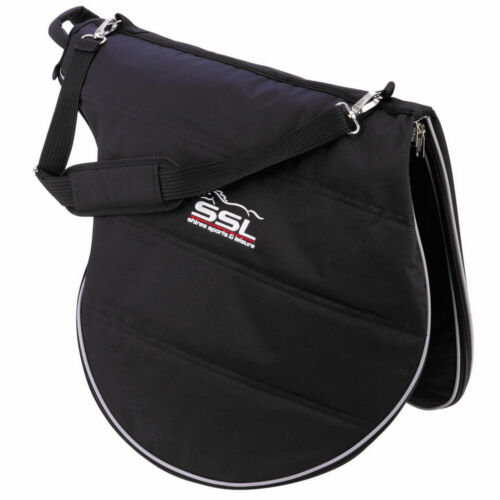 SHIRES ZIP UP SADDLE CARRYING//STORAGE//TRAVEL CARRY BAG WITH SHOULDER STRAP BLACK