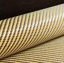 Tessuto IN FIBRA DI CARBONIO Giallo ibrido Kevlar In Tessuto Twill 2x2 [127cm x 28cm]