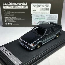 AE86 1//43 HPI IG Ignition Toyota Corolla Levin 2Door GT Apex White IG0465