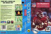 Joe Montana's Nfl Football Custom Sega Cd Case (no Game)