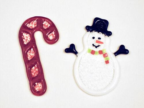 Candy Cane /& Snowman Mold Glass Fusing Mold Colour de Verre