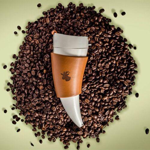 Goat Horn Coffee Mug Tea Cup Goat Horn Coffee Mug Vacuum Thermos Tea Cup