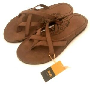 NEW WITH TAGS! TEVA WOMEN OLOWAHU BISON LEATHER SANDALS